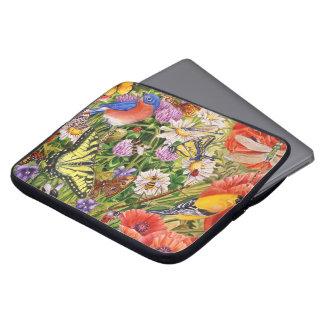 "Bird and Butterflies Neoprene 15"" Laptop Cover"