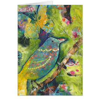 Bird and Butterfly Card