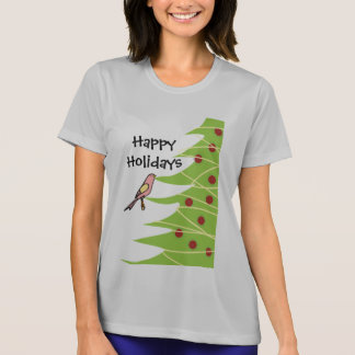 Bird and Christmas Holidays T-Shirt