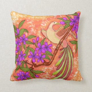 Bird and Floral American MoJo Pillow