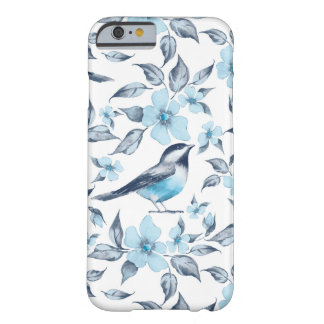 Bird and flowers barely there iPhone 6 case