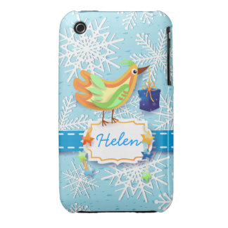 Bird and gift, iPhone case