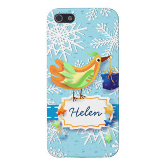 Bird and gift, iPhone case Cover For iPhone 5/5S