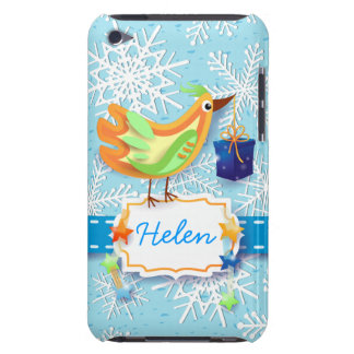 Bird and gift, iPod case Case-Mate iPod Touch Case