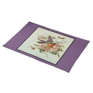 Bird and Pink Wild Roses Placemat