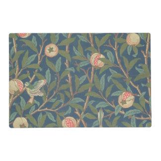 'Bird and Pomegranate' Wallpaper Design, printed b Laminated Place Mat