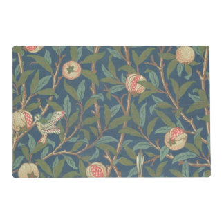 'Bird and Pomegranate' Wallpaper Design, printed b Laminated Place Mat