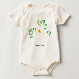 Bird and Tree-Feeding Time Baby Bodysuit