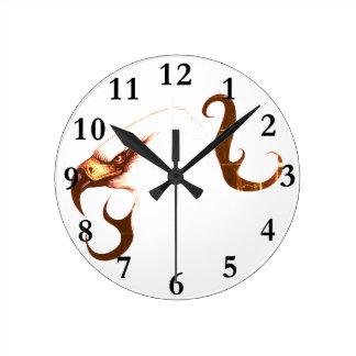 bird art clock eagle