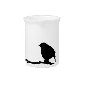 bird- art inspiration black white design pitcher