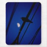 Bird at moonrise mouse pad
