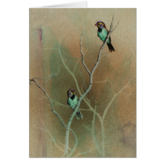 Bird Blank Card by Andrew Denman