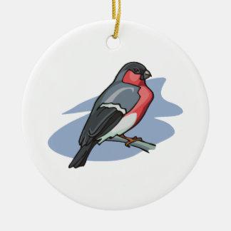 Bird Bullfinch Round Ceramic Decoration