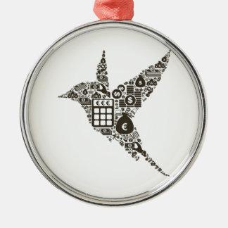 Bird business metal ornament