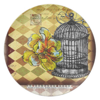 Bird cage - Melamine Plate (3)