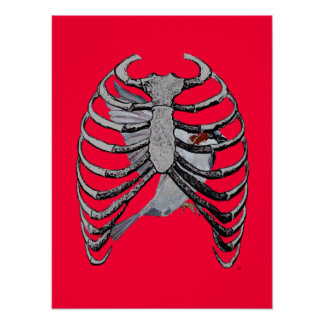 Bird Cage Poster Art Red