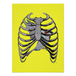 Bird Cage Poster Art (Yellow)