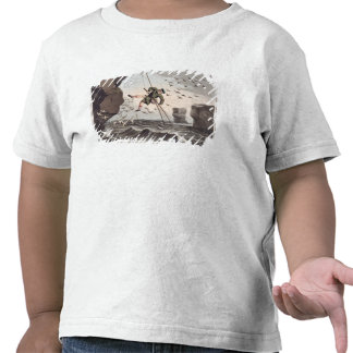 Bird Catching from Above, engraved by Matthew Dubo Tee Shirt