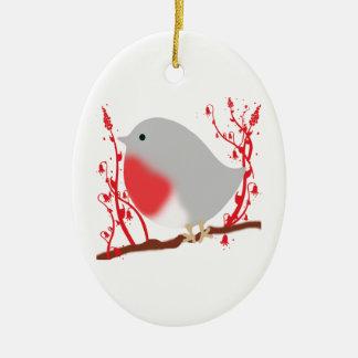 bird ceramic ornament