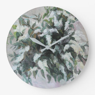 Bird Cherry bouquet Large Clock