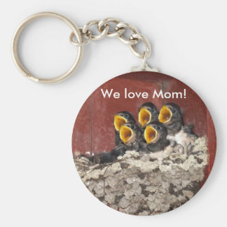 Bird Choir Sings Happy Mother's Day to Mom Keychain