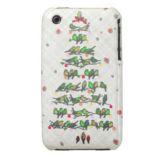 Bird Christmas Tree Case-Mate iPhone 3 Cases