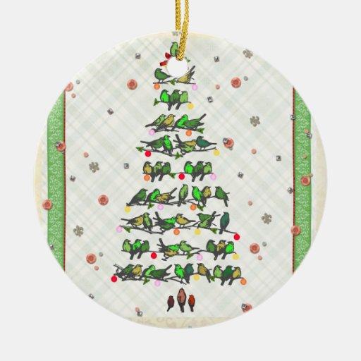Bird Christmas Tree Christmas Ornament