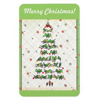 Bird Christmas Tree Rectangular Photo Magnet