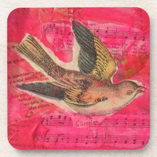 Bird Collage Beverage Coasters