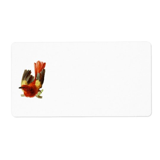 Bird Collection-Name Tag Shipping Label
