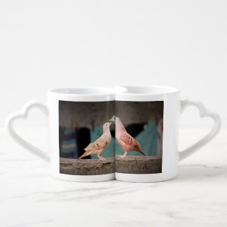 Bird Couple love coffee mugs I Love You set