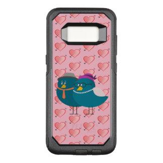 Bird Couple Retro Cartoon Cute Heart Pattern Girly OtterBox Commuter Samsung Galaxy S8 Case