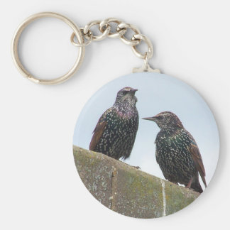 Bird Culture 1 Basic Round Button Key Ring