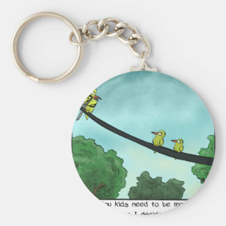 Bird Cut the Cable Key Ring