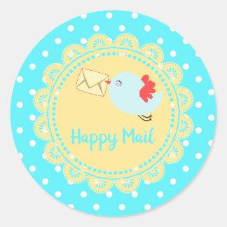 Bird Delivering Happy Mail Sticker