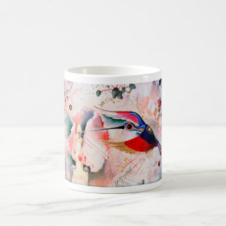 BIRD DRINKING a CANDLE LIGHT. Moltchanoph Inc. Classic White Coffee Mug