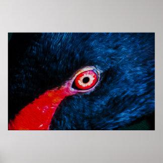 Bird Eye 02 - Digital Art Poster