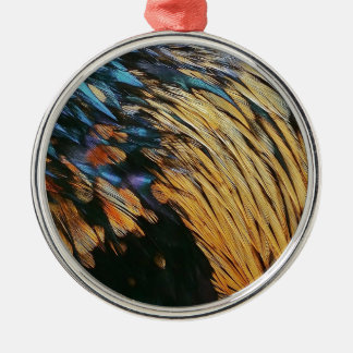 bird feathers Bird Feathers Silver-Colored Round Decoration