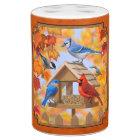 Bird Feeder Gathering Autumn Orange Bathroom Set