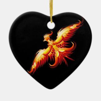 Bird fire Phoenix  3 Ceramic Ornament