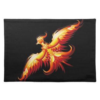 Bird fire Phoenix  3 Place Mats