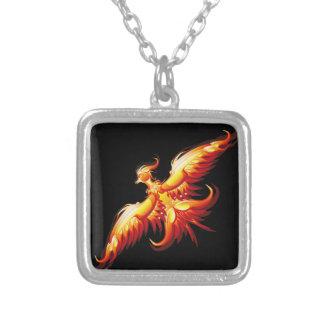 Bird fire Phoenix  3 Silver Plated Necklace