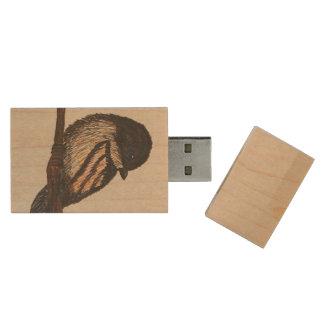 Bird Flash Drive Wood USB 2.0 Flash Drive