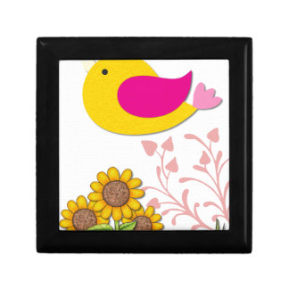 bird Floral, Art, Design, Beautiful, New, Fashion Gift Box