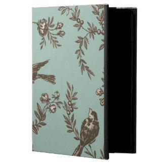 Bird flower toile iPad air cover