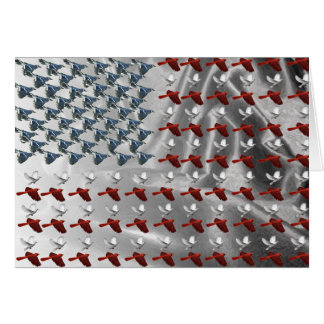 Bird Flying American Flag Greeting Card