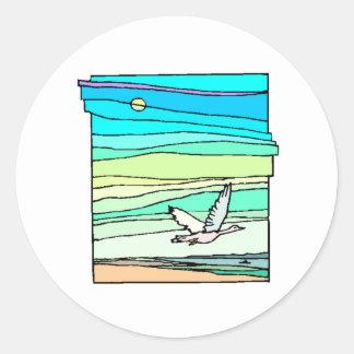 Bird Flying Sticker