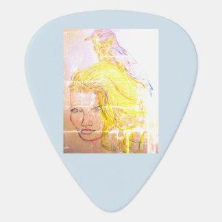 Bird Girl Guitar Pick