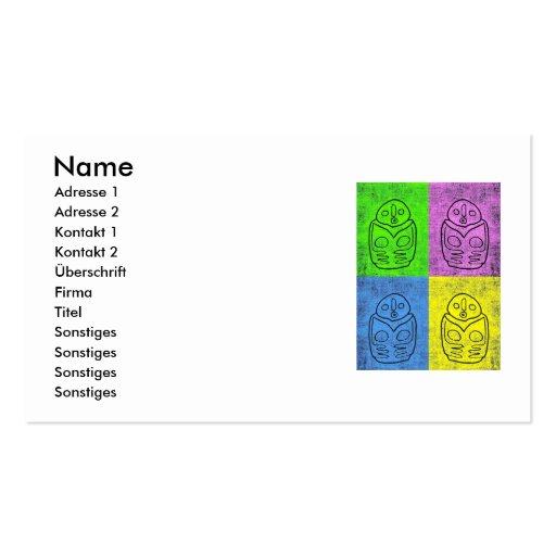 Bird goddess - Neolithikum (multicolored) Business Card Templates