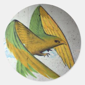Bird Graffiti, Basel, Switzerland Round Sticker